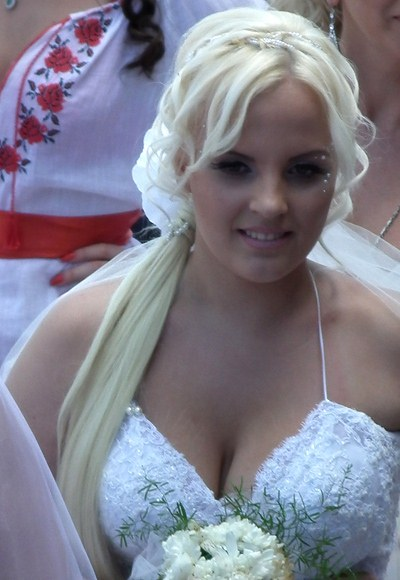 Sexy breasted babes on wedding